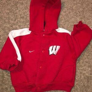 Nike university of Wisconsin boys hoodie 6mns